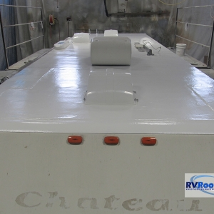 Chateau-with-wood-repairs-FlexArmor-sprayed-rv-roof